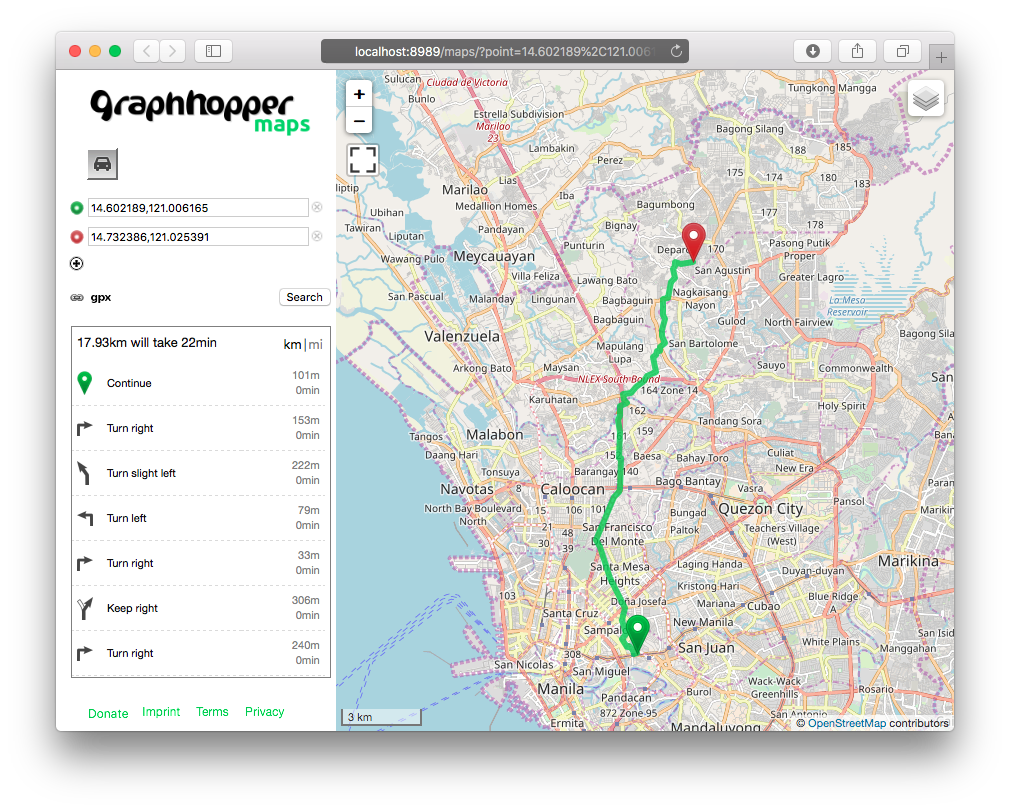 GraphHopper with PostGIS Data Reader